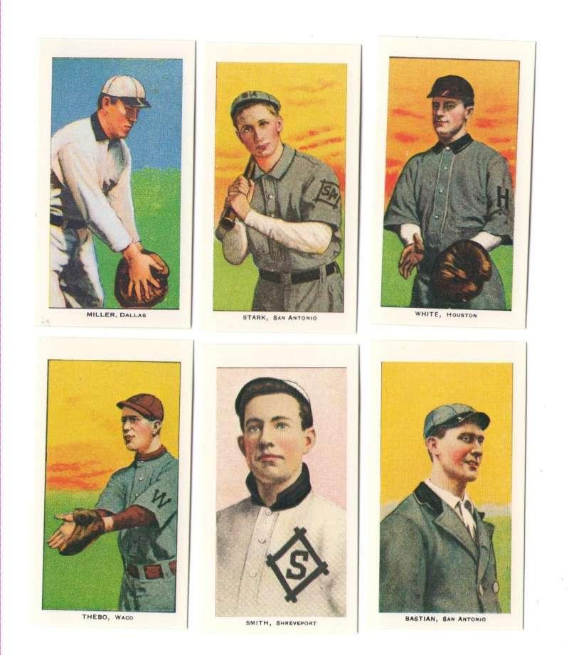 1909-1911 T206 (Reprints) - Texas League Cards