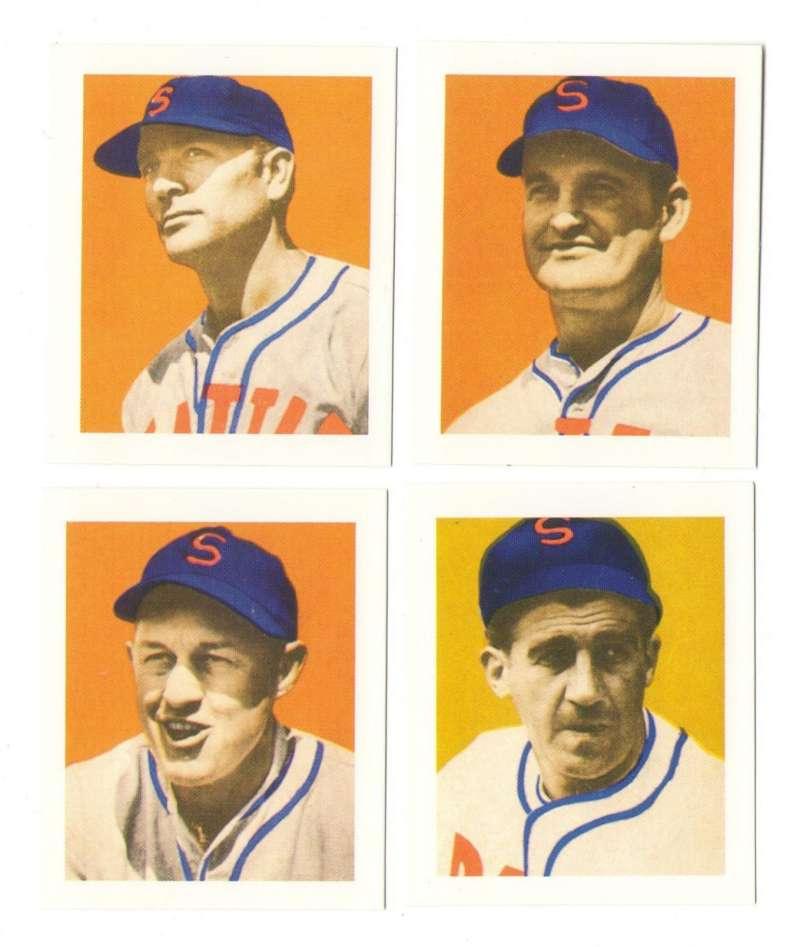 1949 Bowman PCL Reprints - Seattle Rainiers Team Set