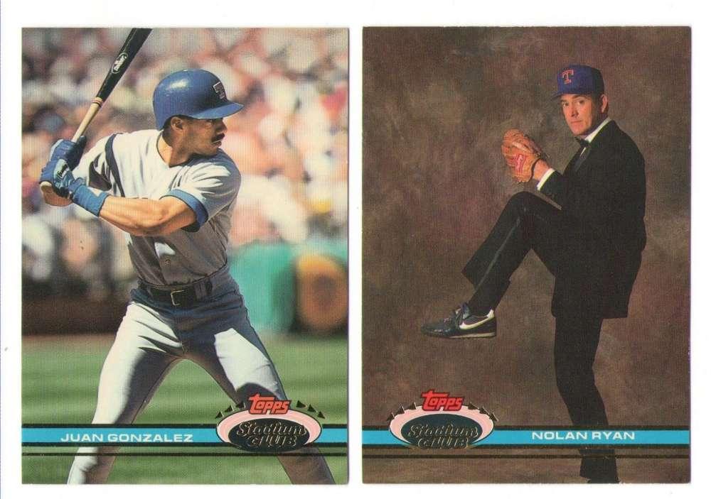 9c3f7566b3 1991 Topps Stadium Club Baseball Team Sets ** Pick Your Team Set ...