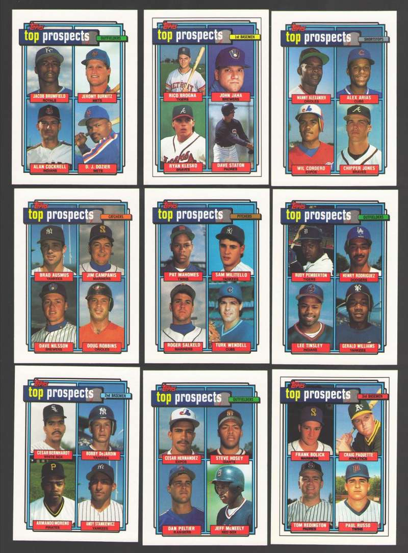 1992 Topps - Top Prospects (9 card subset)