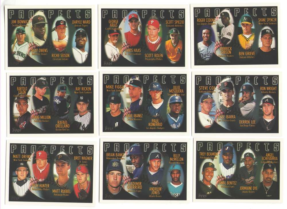 1996 Topps - Prospects  16 card sub set