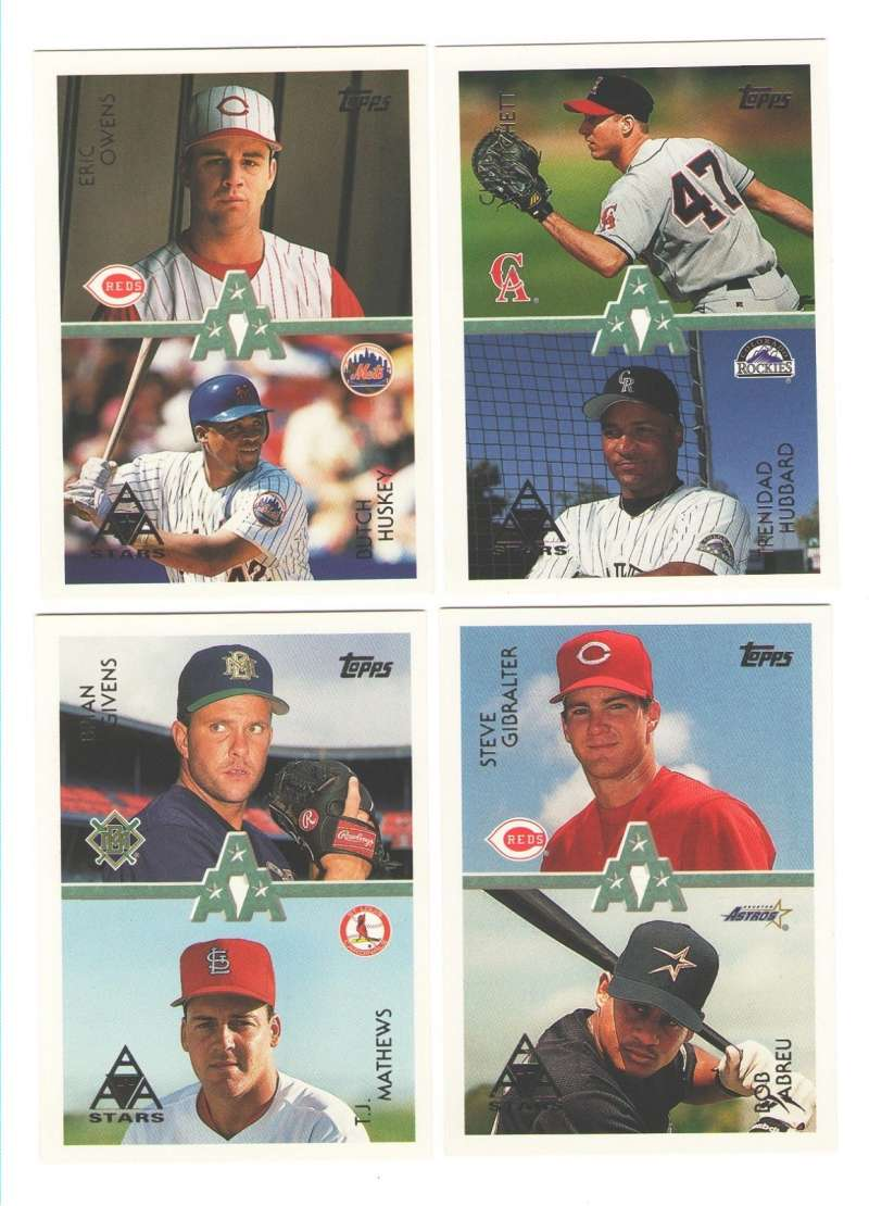 1996 Topps - Rookies Stars 4 card lot