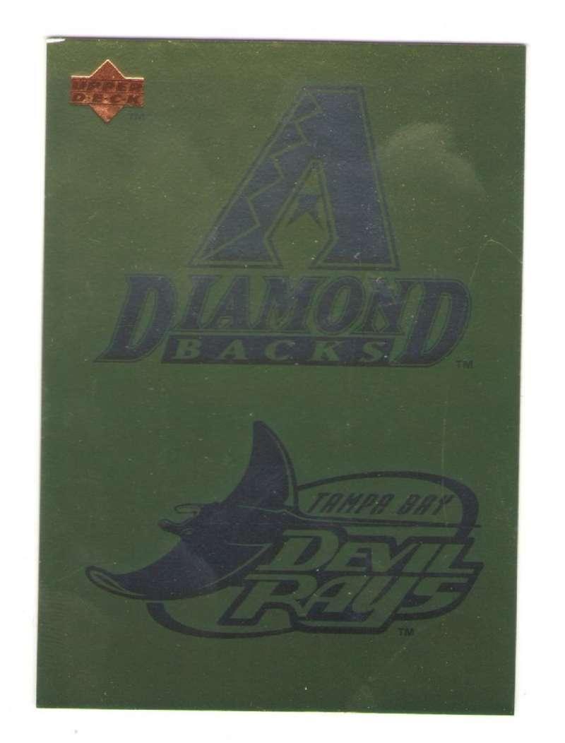 1996 UPPER DECK #98 ARIZONA DIAMONDBACKS and TAMPA BAY DEVIL RAYS Logo Card