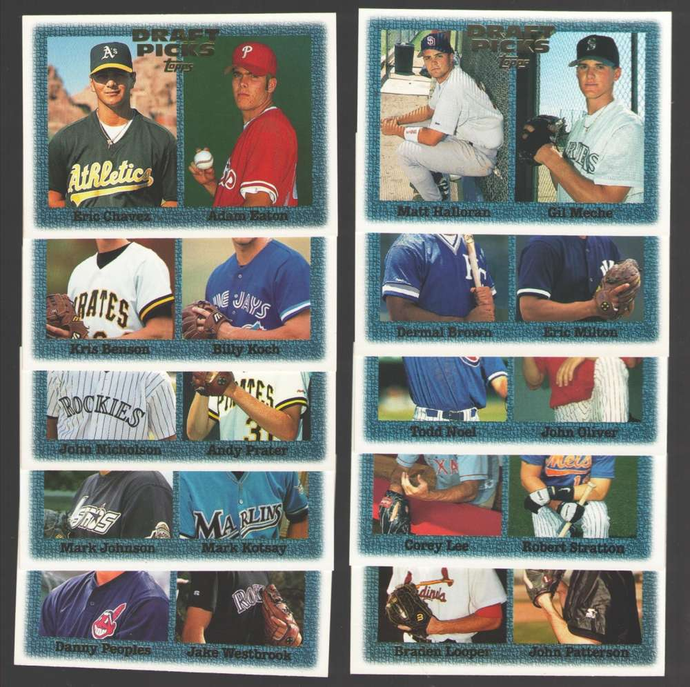 1997 TOPPS - Draft Picks 10 card lot all different.