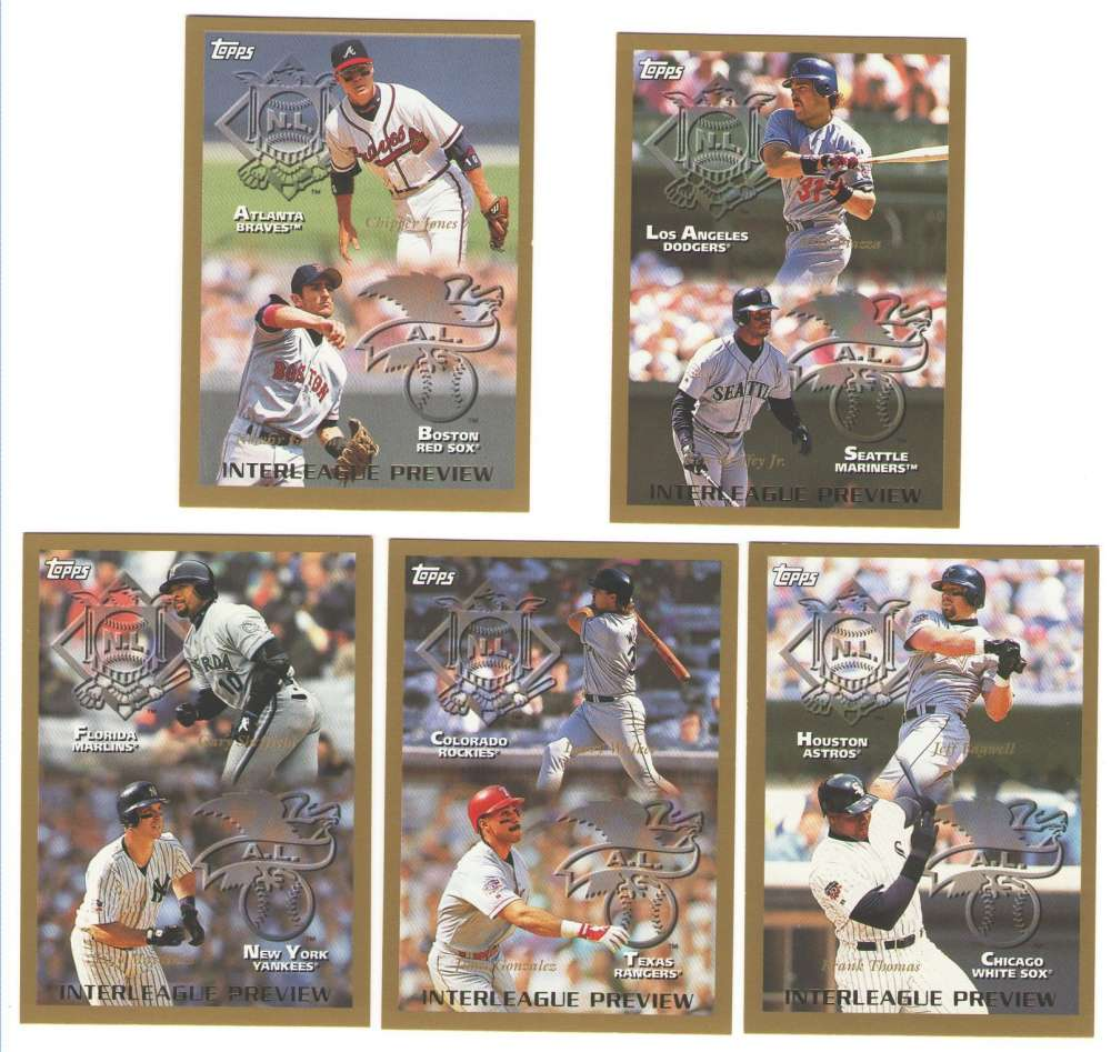1998 Topps - Interleague Preview (5 card subset)