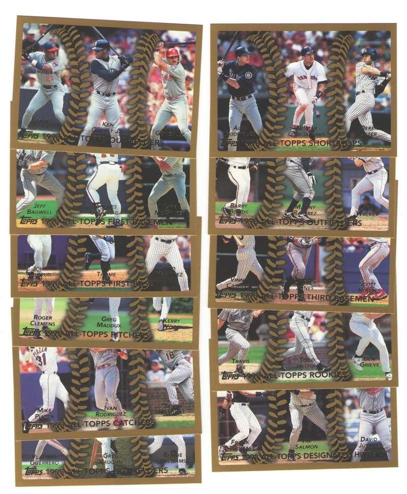 1999 Topps - All-Topps Team 11 cards subset