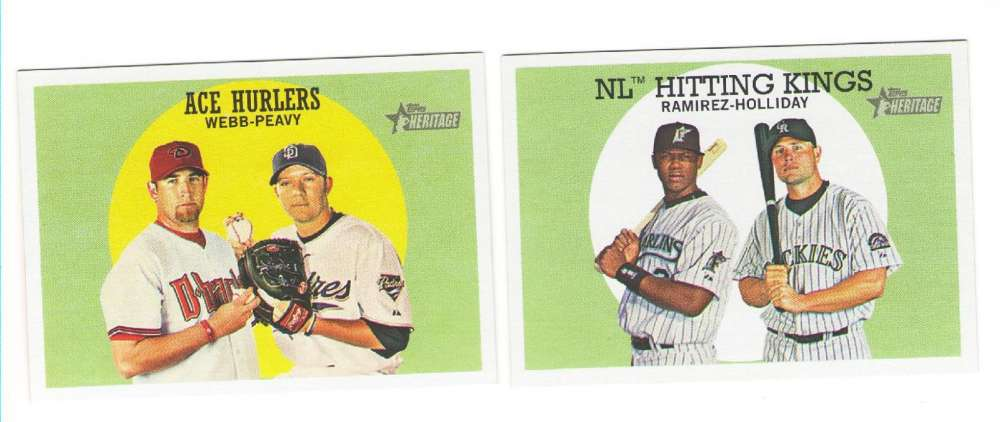 2008 Topps Heritage - Combo cards 2 card lot