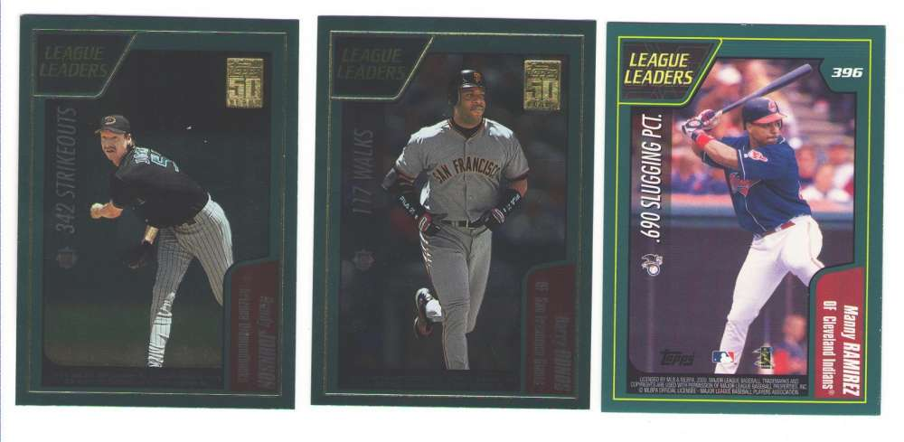 2001 Topps - League Leaders 8 cards subset