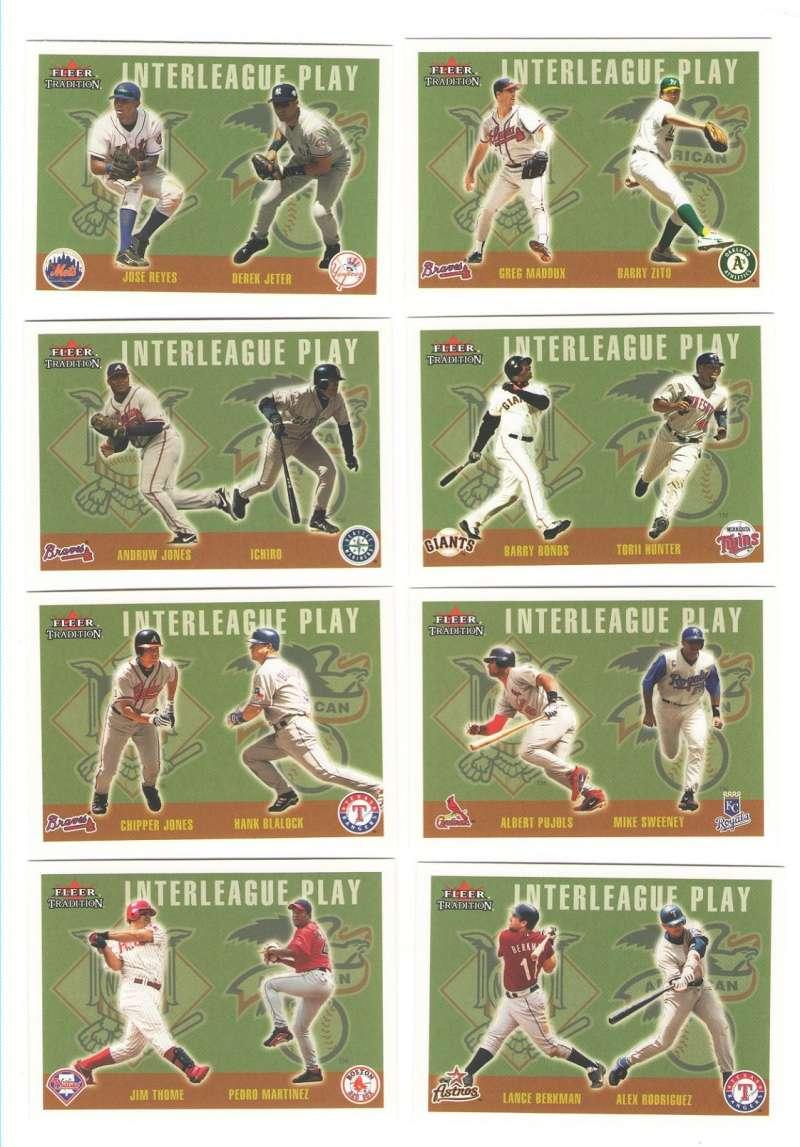 2003 Fleer Tradition Update - InterLeague Play (16 card subset)