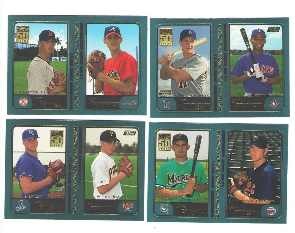2001 Topps Limited (Tiffany) - Draft Picks subset 19 card lot w/ Encarnacion RC
