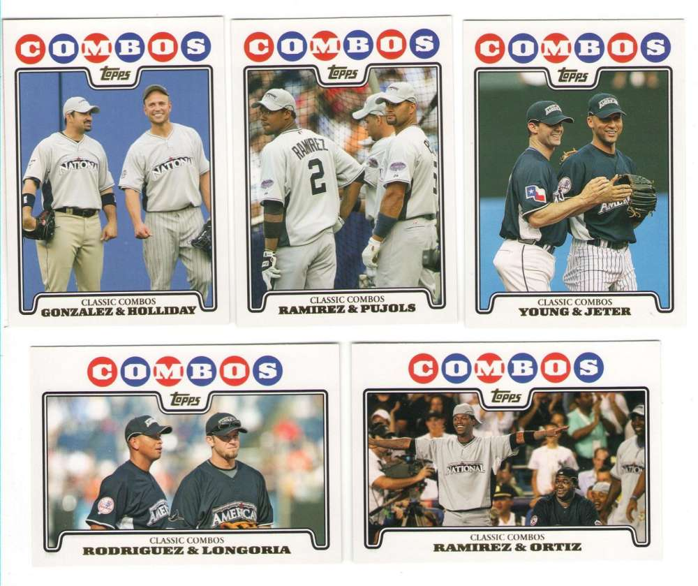 2008 TOPPS UPDATE GOLD FOIL - COMBOS 10 Card Subset