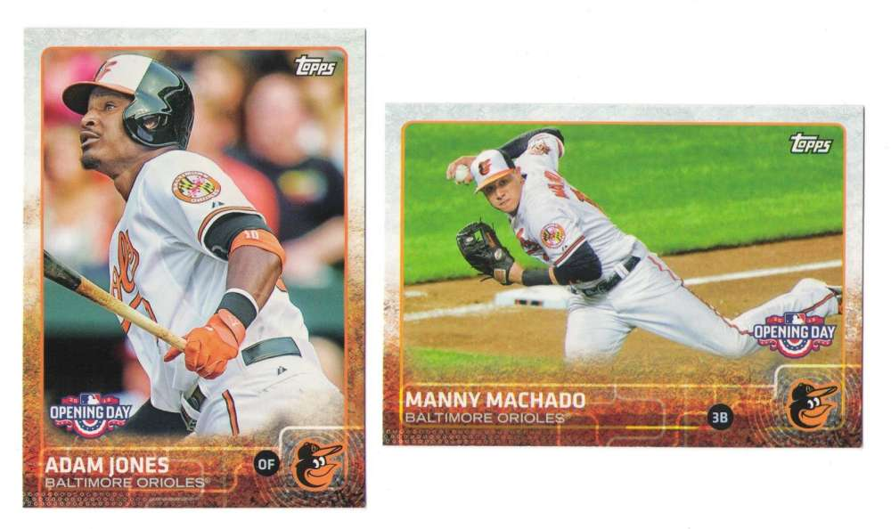 2015 Topps Opening Day - BALTIMORE ORIOLES Team Set