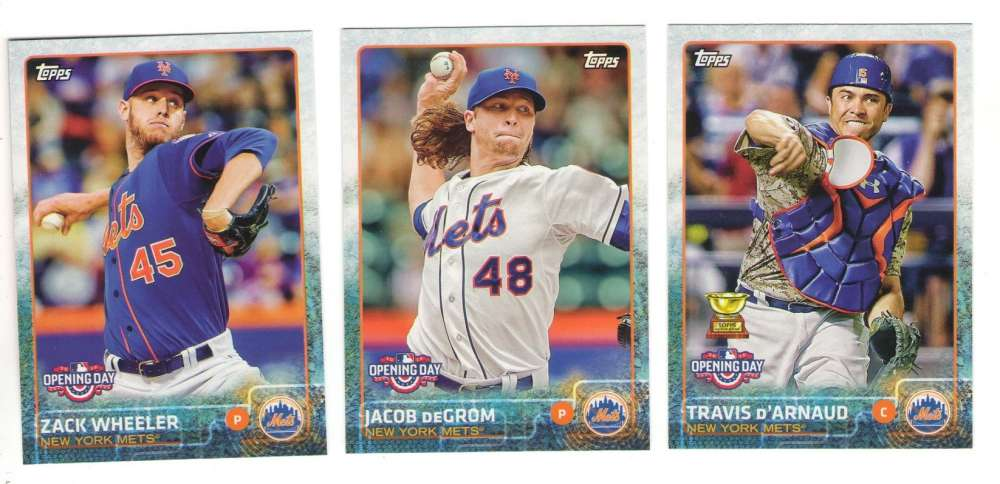 2015 Topps Opening Day - NEW YORK METS Team Set