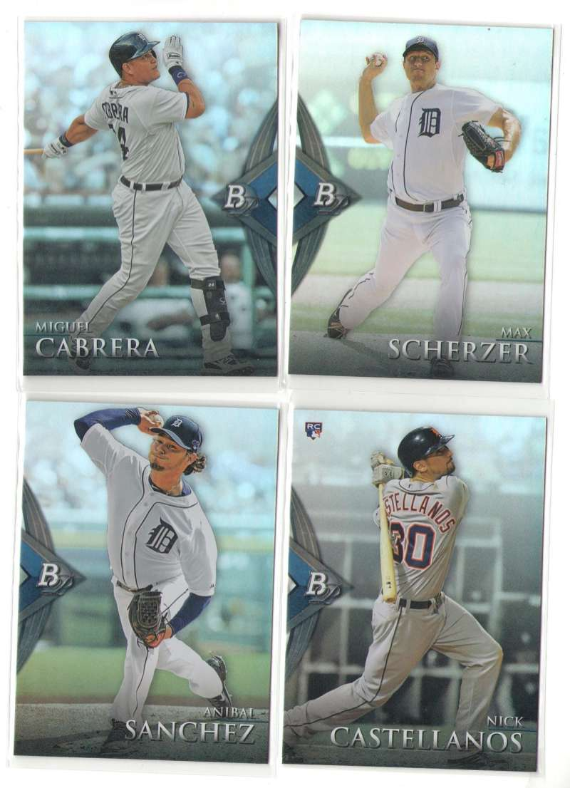 2014 Bowman Platinum - DETROIT TIGERS Team Set