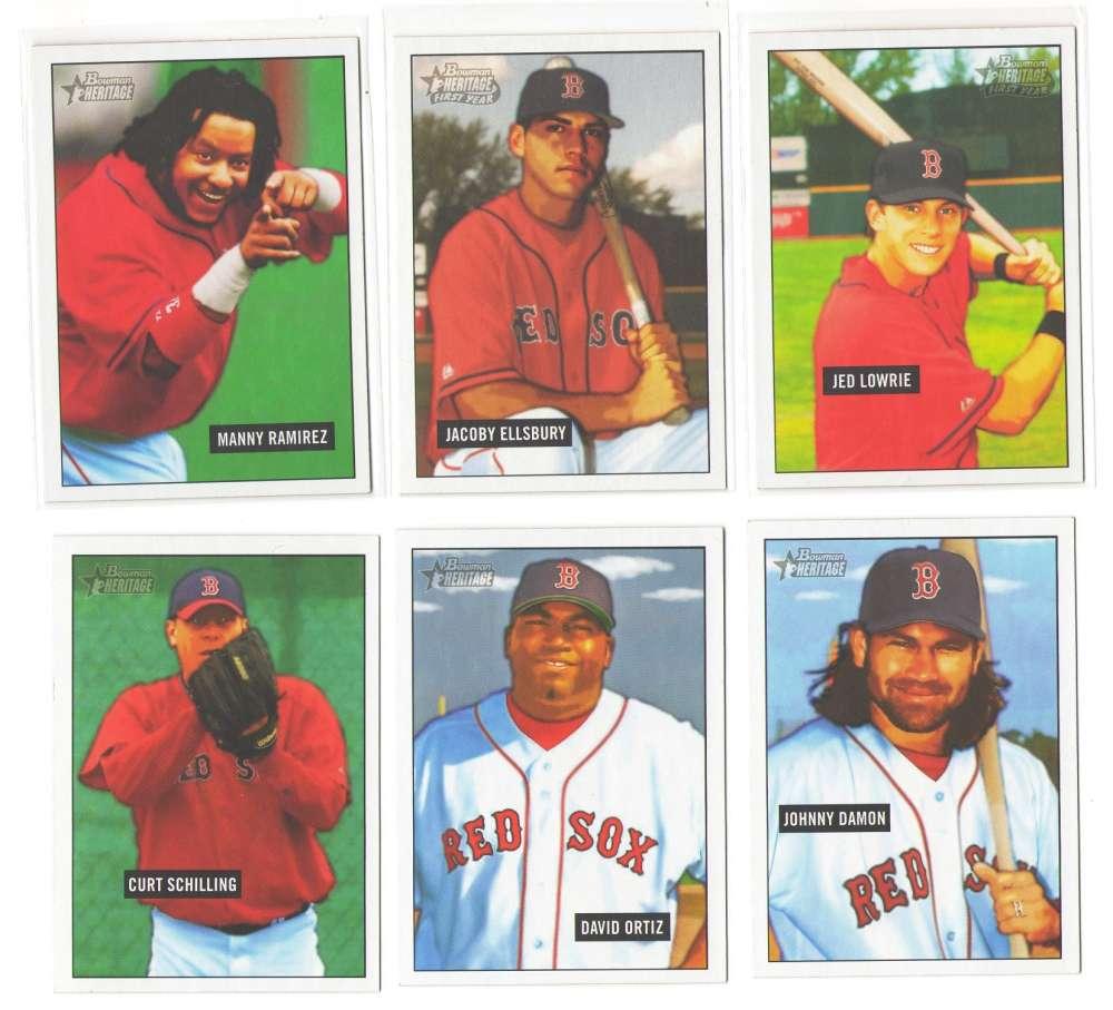 2005 Bowman Heritage (1-350) - BOSTON RED SOX Team Set