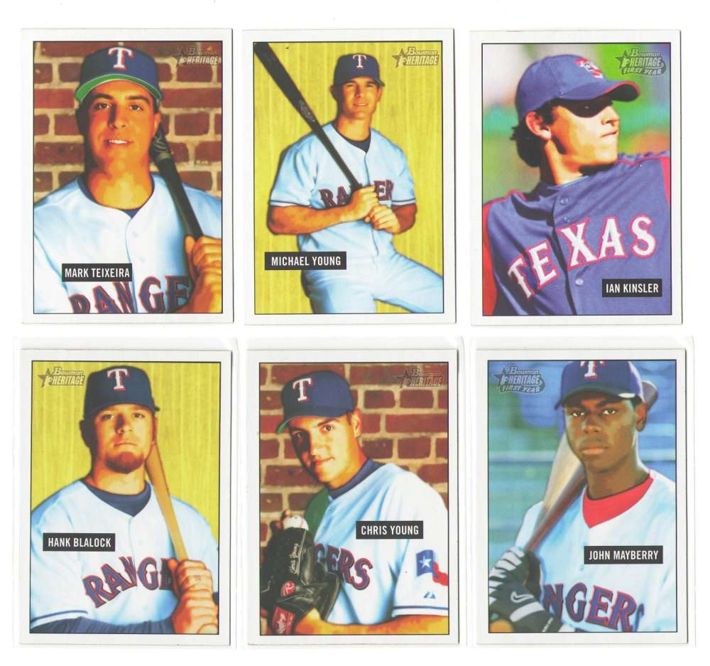 2005 Bowman Heritage (1-350) - TEXAS RANGERS Team Set