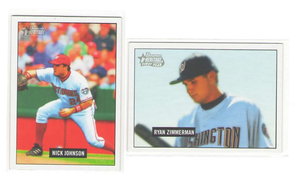 2005 Bowman Heritage (1-350) - WASHINGTON NATIONALS Team Set