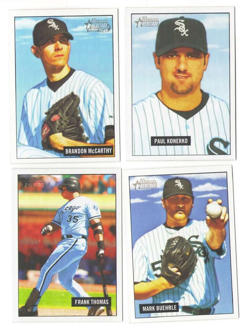 2005 Bowman Heritage - CHICAGO WHITE SOX Team Set