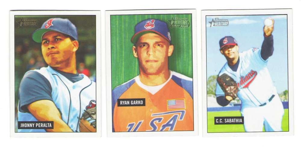 2005 Bowman Heritage - CLEVELAND INDIANS Team Set