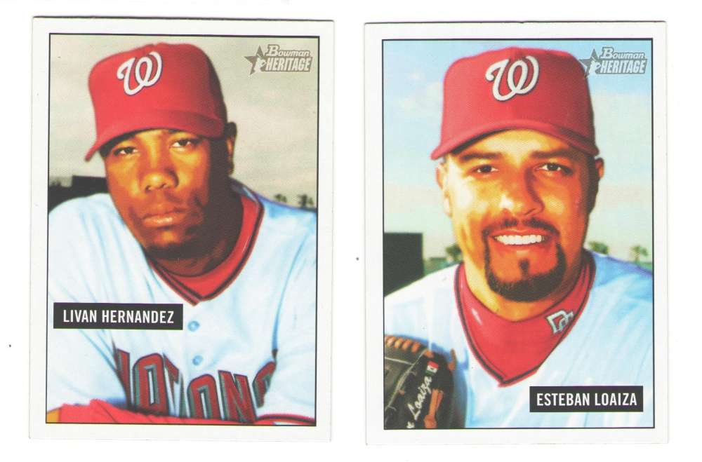 2005 Bowman Heritage (Base Set) - WASHINGTON NATIONALS Team Set