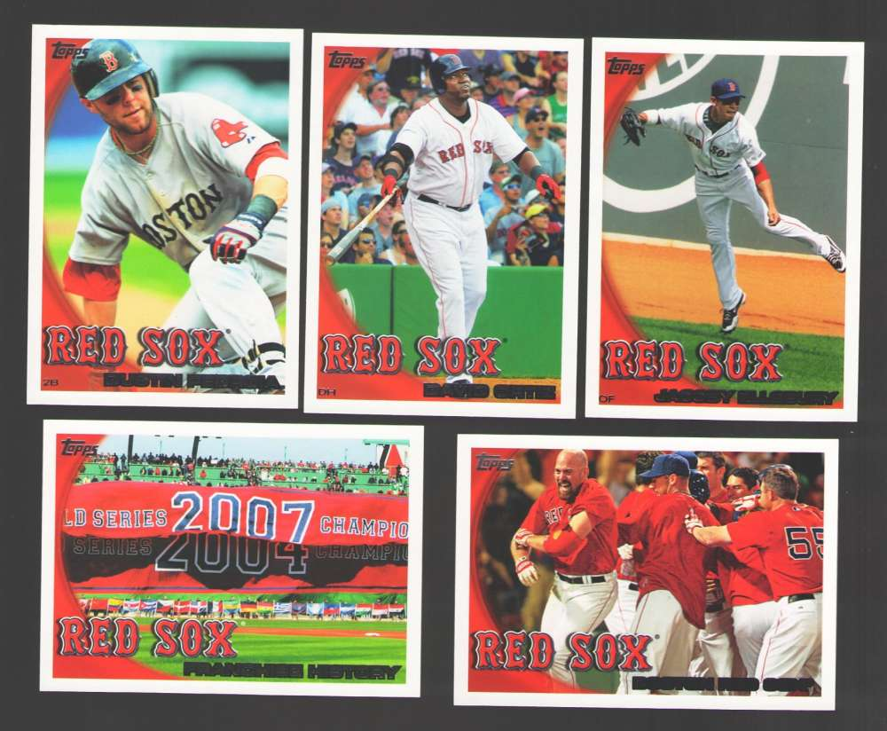 2010 TOPPS - BOSTON RED SOX Team Set