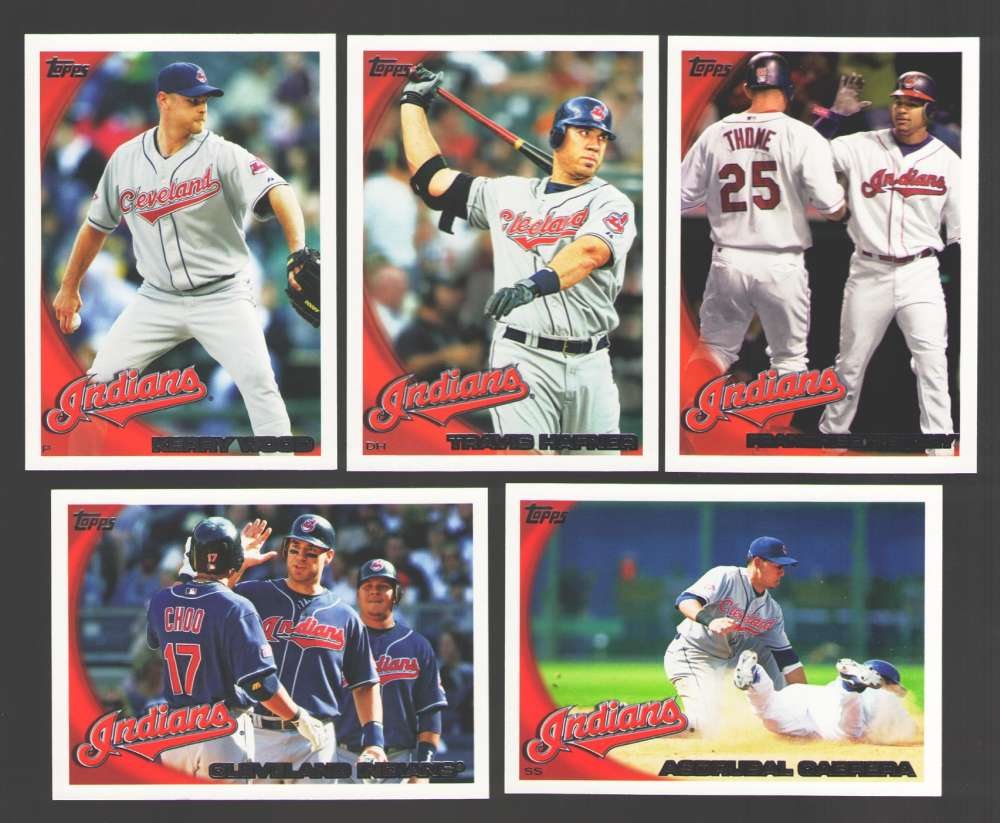 2010 Topps - CLEVELAND INDIANS Team Set