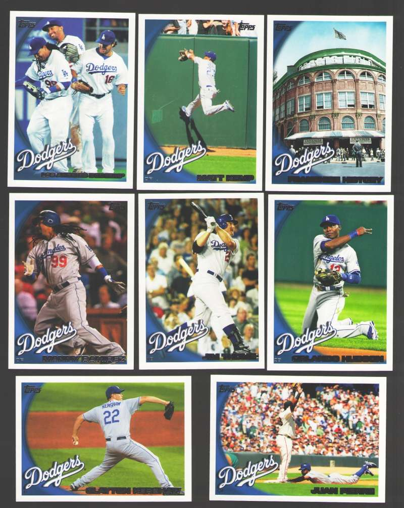 2010 Topps - LOS ANGELES DODGERS Team Set
