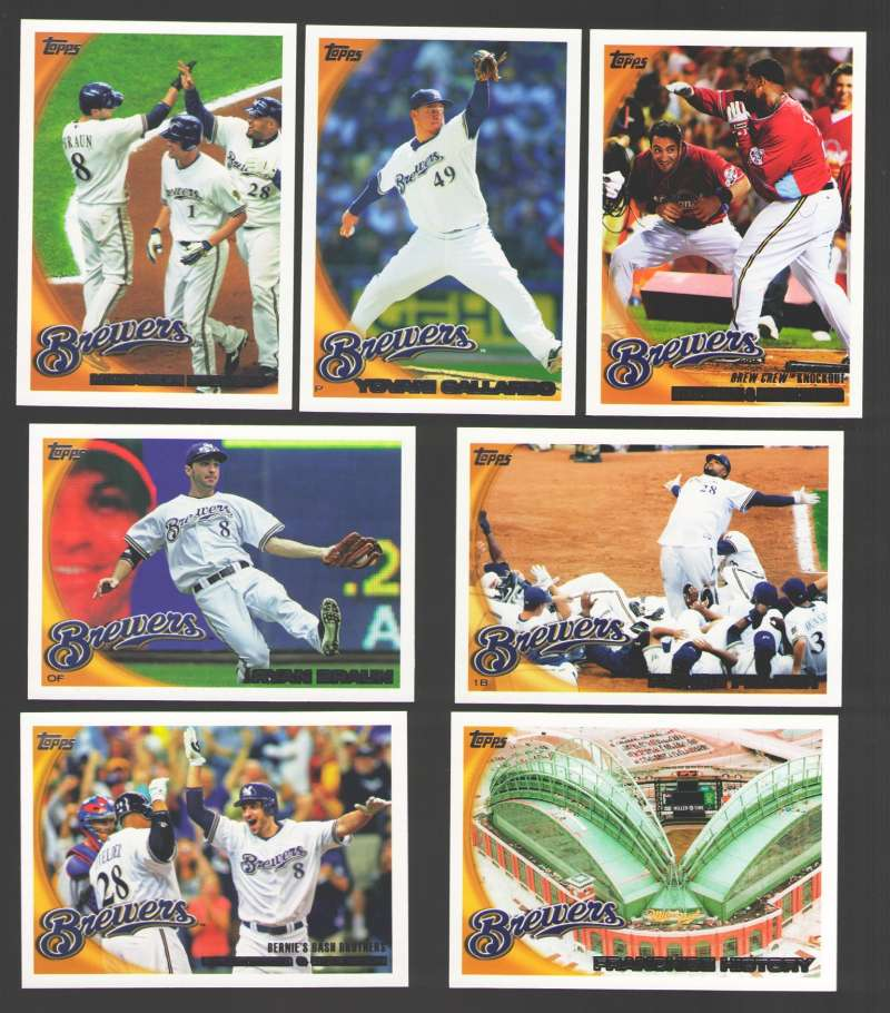 2010 Topps - MILWAUKEE BREWERS Team Set