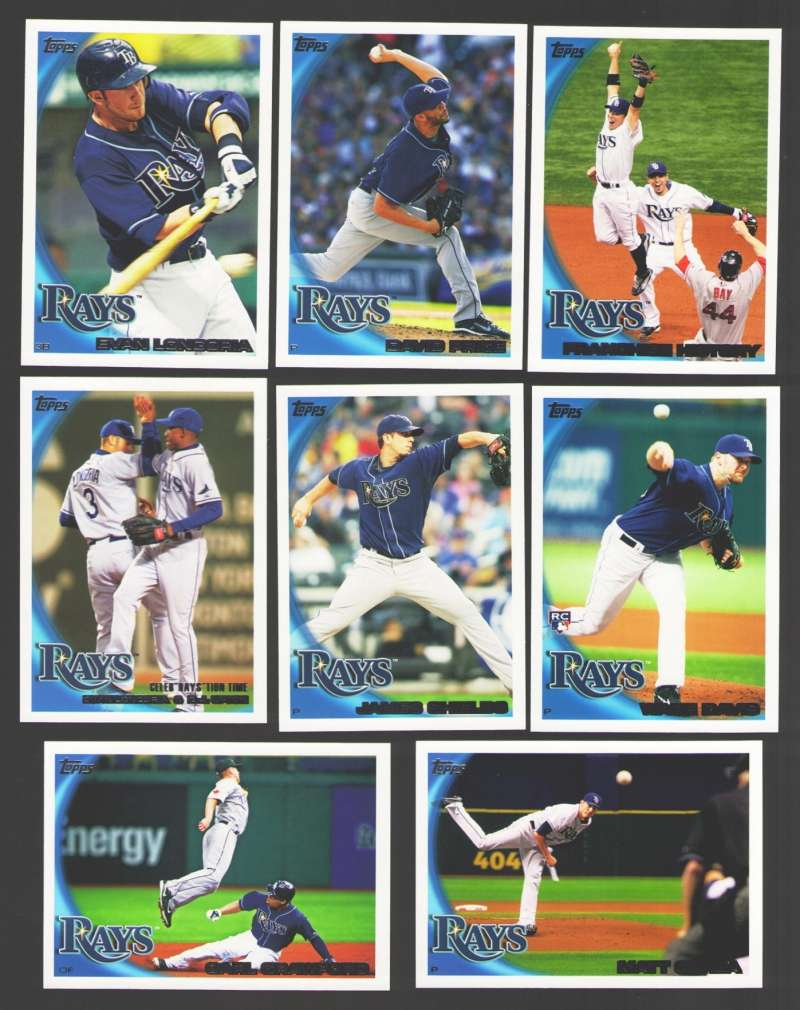2010 Topps - TAMPA BAY RAYS Team Set