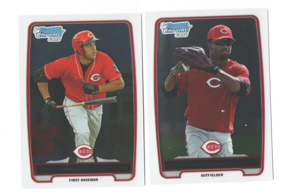 2012 Bowman Chrome Prospects (111-220) - CINCINNATI REDS Team Set