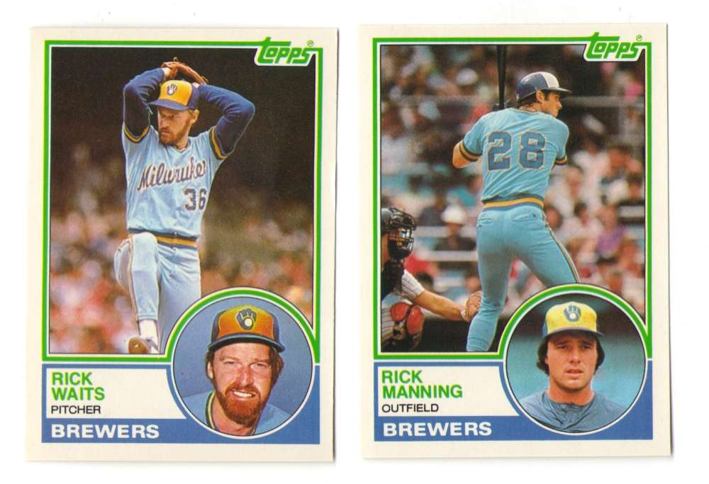 1983 Topps Traded - MILWAUKEE BREWERS Team Set