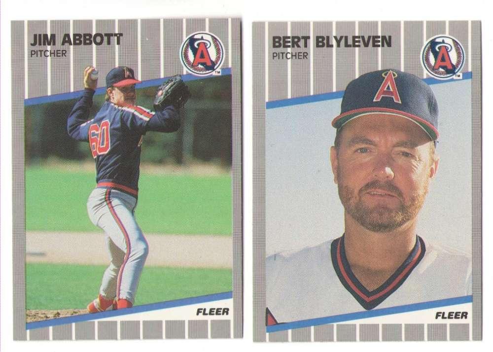 1989 Fleer Update CALIFORNIA ANGELS Team set