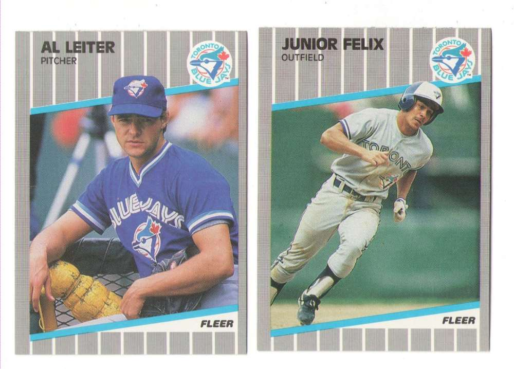 1989 Fleer Update TORONTO BLUE JAYS Team Set