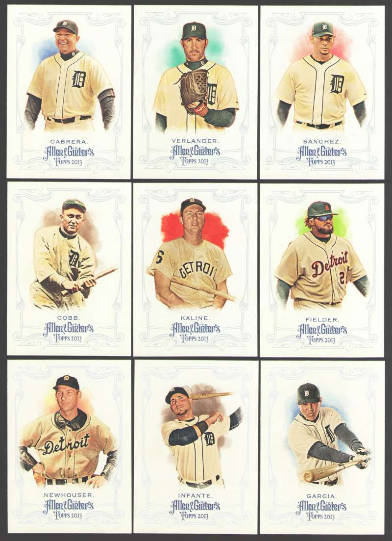 2013 Topps Allen and Ginter (1-350) - DETROIT TIGERS Team Set