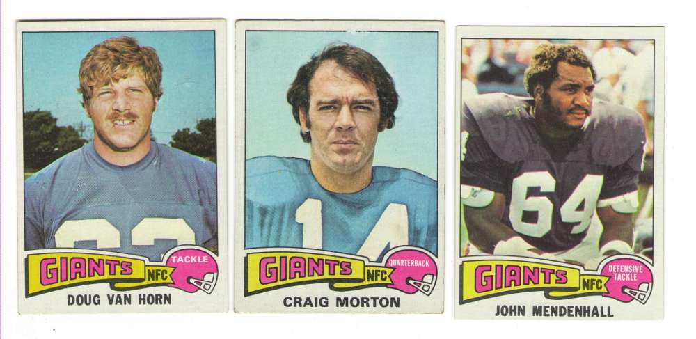1975 Topps Football Team Set - NEW YORK GIANTS
