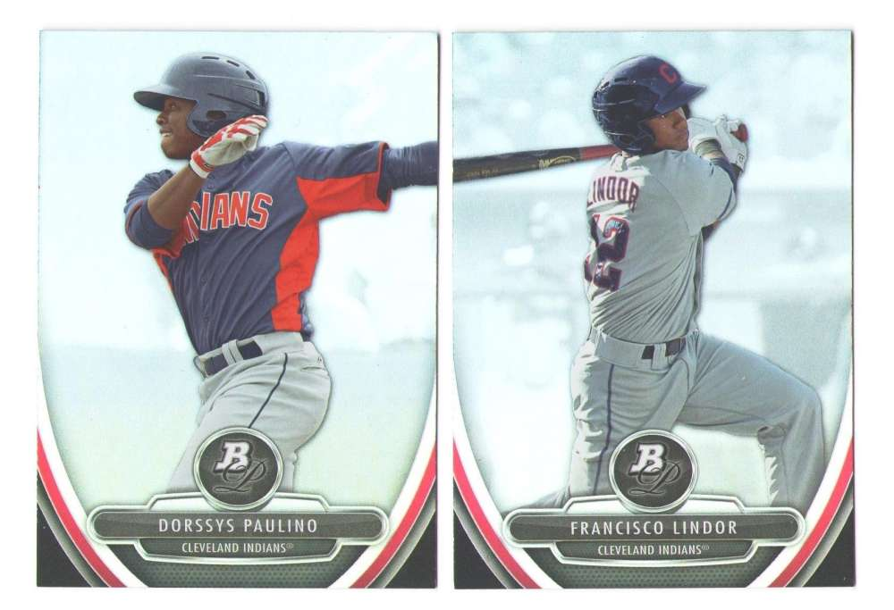 2013 Bowman Platinum Prospects - CLEVELAND INDIANS Team Set