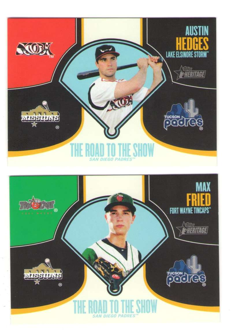 2013 Topps Heritage Minors Road to the Show - SAN DIEGO PADRES Team Set
