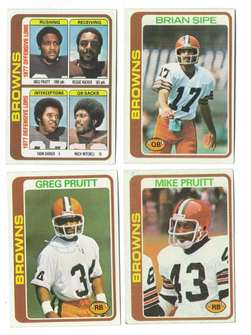 1978 Topps Football Team Set (EX+ Condition) - CLEVELAND BROWNS