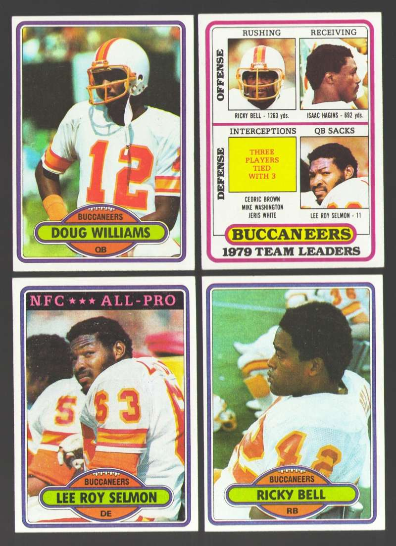 1980 Topps Football Team Set - TAMPA BAY BUCCANEERS