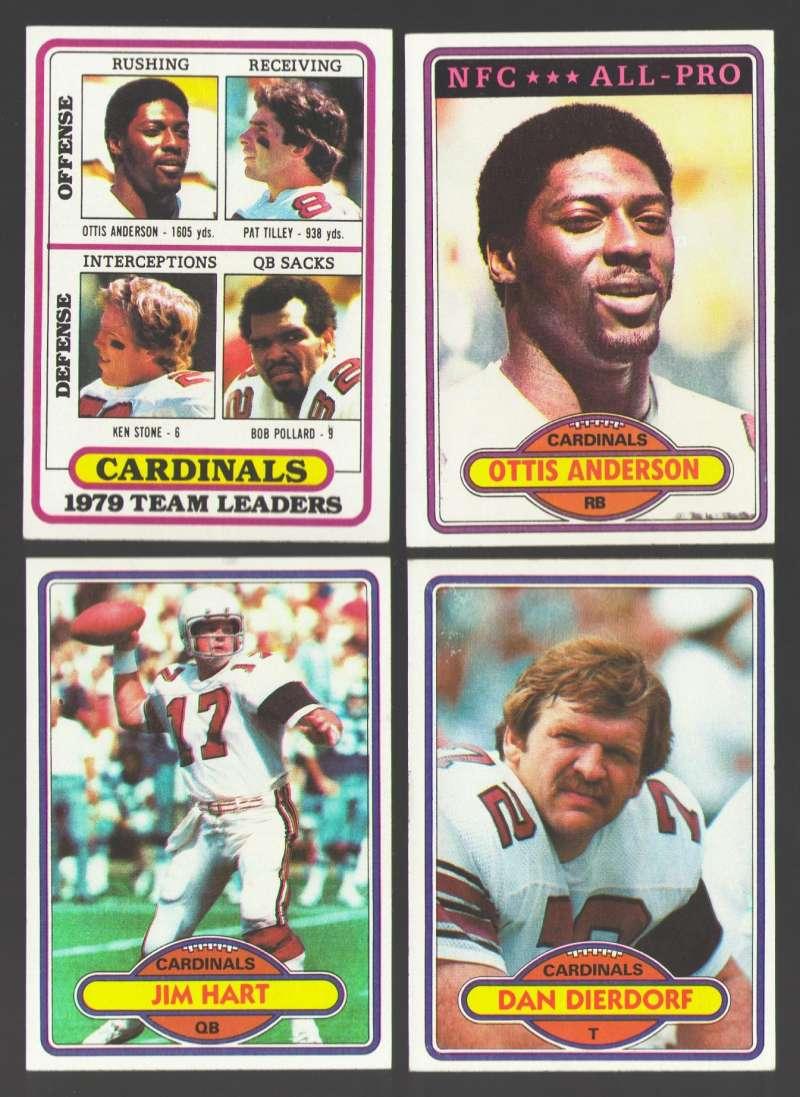 1980 Topps Football Team Set - ST LOUIS CARDINALS