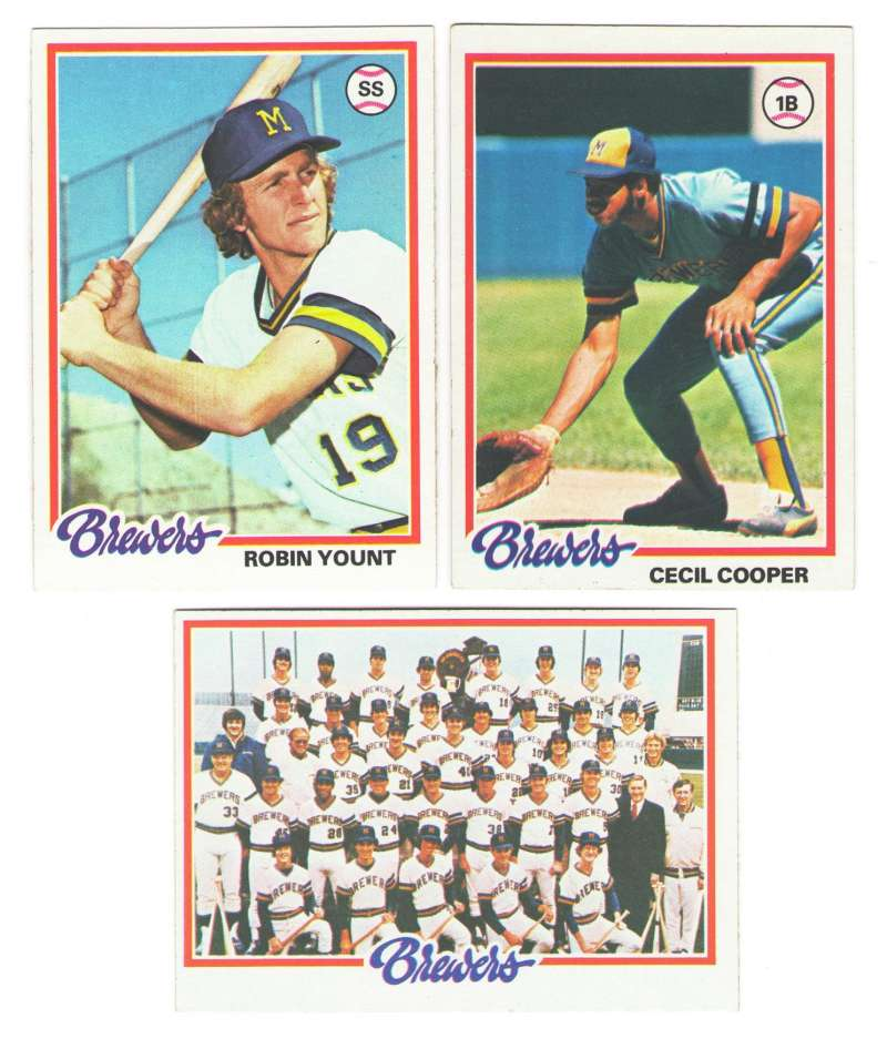 1978 Topps EX Condition - MILWAUKEE BREWERS Team Set
