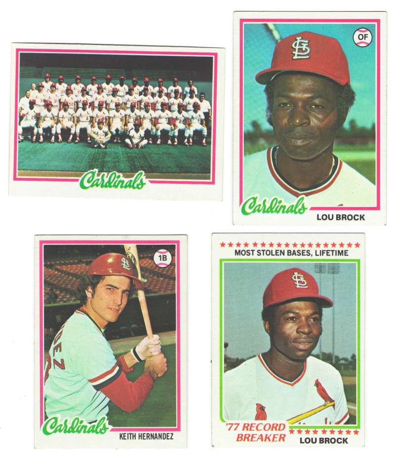 1978 Topps EX Condition - ST LOUIS CARDINALS Team Set