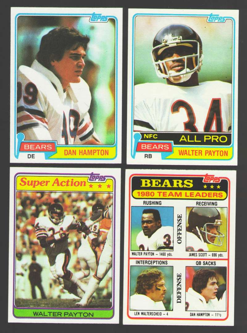 1981 Topps Football Team Set - CHICAGO BEARS