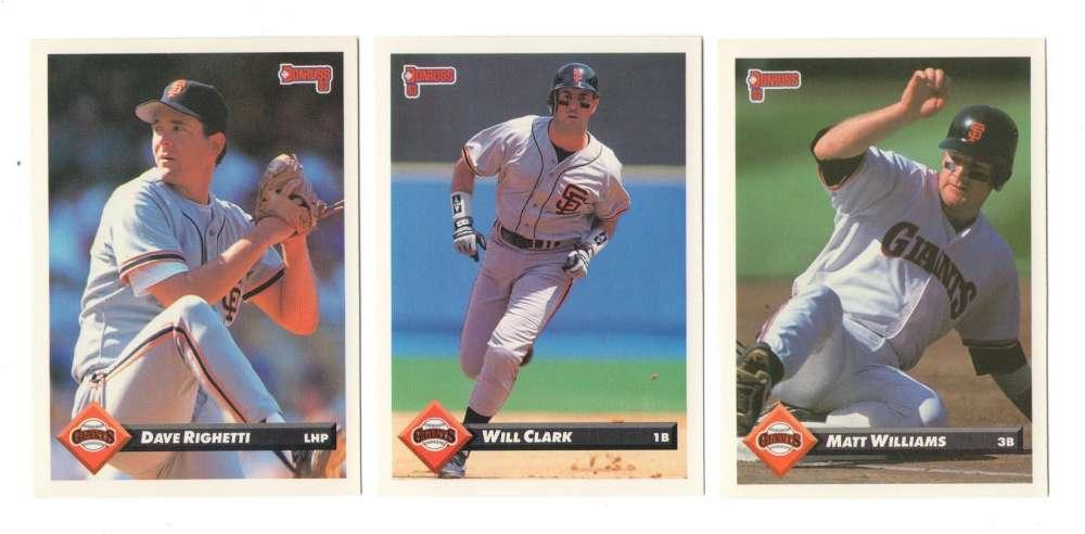 1993 Donruss - SAN FRANCISCO GIANTS Team Set
