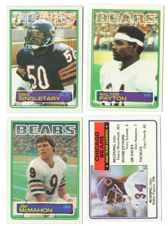 1983 Topps Football Team Set - CHICAGO BEARS