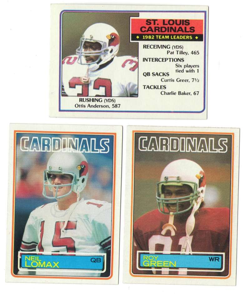 1983 Topps Football Team Set - ST LOUIS CARDINALS