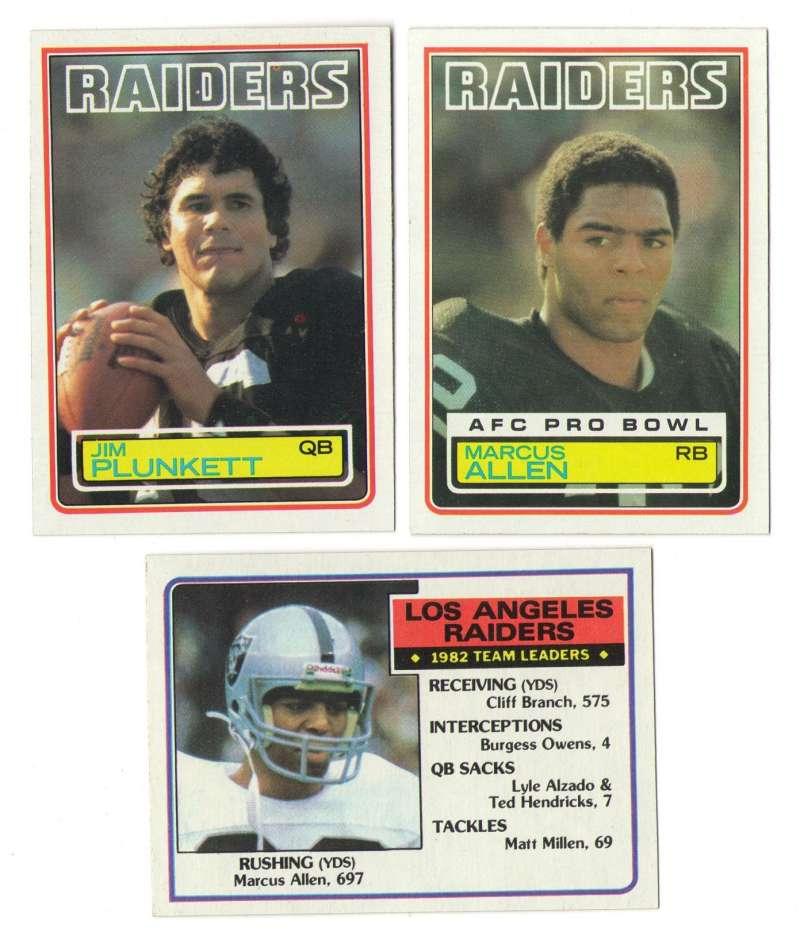1983 Topps Football Team Set - LOS ANGELES RAIDERS