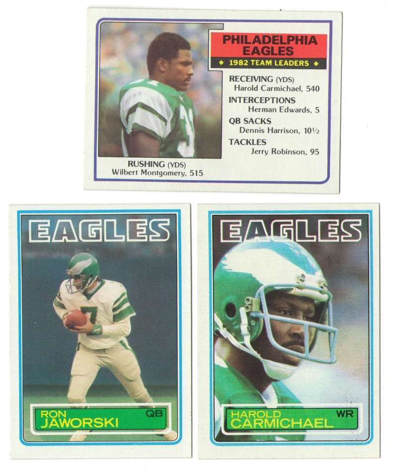 1983 Topps Football Team Set - PHILADELPHIA EAGLES