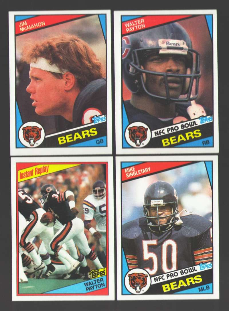 1984 Topps Football Team Set - CHICAGO BEARS