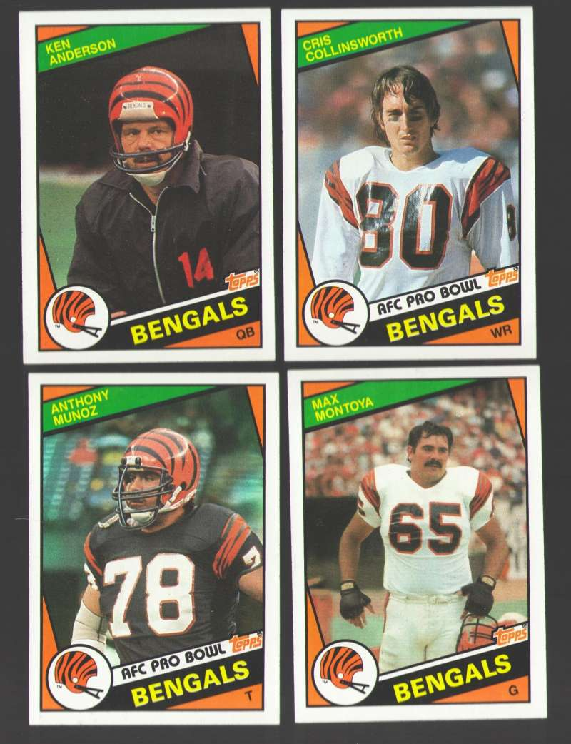 1984 Topps Football Team Set - CINCINNATI BENGALS